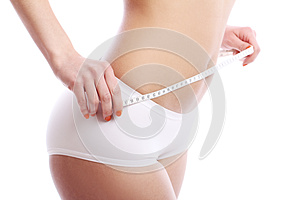 Woman With Measuring Tape Royalty Free Stock Image - Image: 24803106