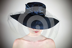 Lips In The Hat Stock Image - Image: 24804551