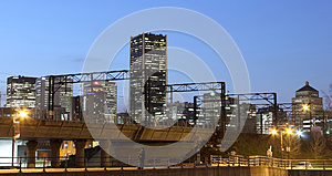Montreal Lovers By Night Royalty Free Stock Image - Image: 24815146