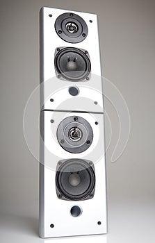 Two Audio Speakers Stock Photography - Image: 24824092