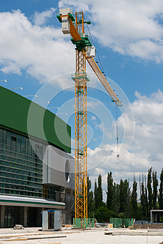 Construction Site For New Sporting Center Royalty Free Stock Photos - Image: 24826098