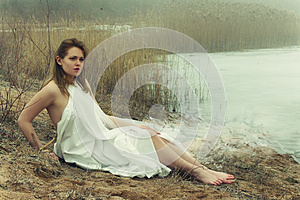 Woman In White Dress Royalty Free Stock Photo - Image: 24832925