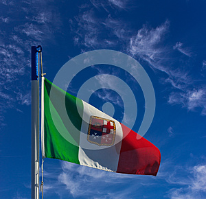Italian Navy Flag Royalty Free Stock Images - Image: 24835369