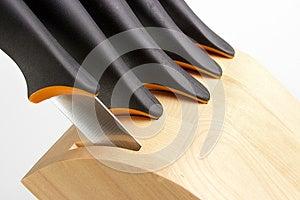 Knife Block Stock Image - Image: 24838941