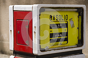Old Gas Pump In Sardinia Stock Images - Image: 24843124