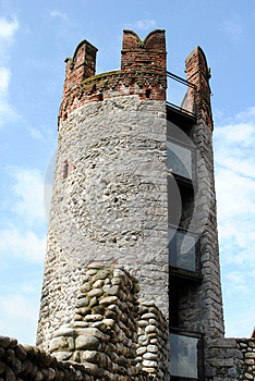 Tower In A Medieval Castle Royalty Free Stock Image - Image: 24843176