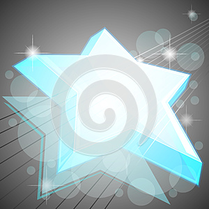 Blue Icy Star Royalty Free Stock Photography - Image: 24844017