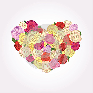 Heart Of Roses Stock Photography - Image: 24847252