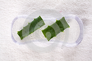 Sanitary Product And Leaves Of The Aloe Royalty Free Stock Photos - Image: 24852348