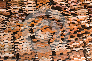 Red Brick Pack Royalty Free Stock Image - Image: 24852896