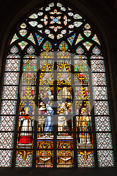 Stained Glass Window Stock Image - Image: 24861991