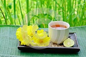 Aroma Lemon Tea Stock Image - Image: 24868781