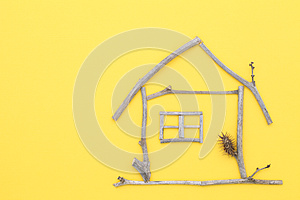 House Made Of Branches Stock Image - Image: 24874671