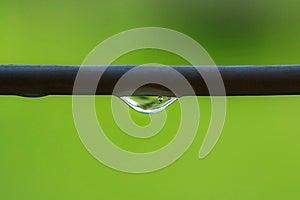 Raindrop On Washing Line Stock Images - Image: 24877354