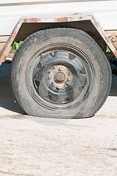 Flat Tyre Royalty Free Stock Photos - Image: 24880668
