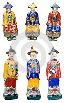 Chinese Ceramic Figurines Stock Image - Image: 24884211