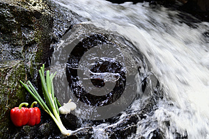 Vegetables At The Waterfall Stock Photo - Image: 24884650