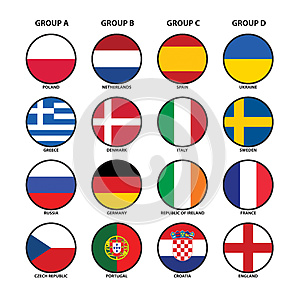Euro 2012 Groups Royalty Free Stock Photography - Image: 24885727
