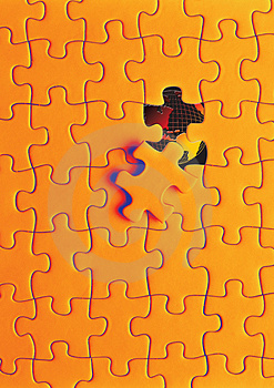 puzzle world Royalty Free Stock Photos