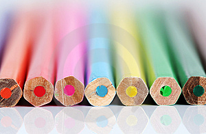 Color pencil ends Royalty Free Stock Image