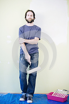 Man With Paint Roller Stock Photos - Image: 24901813