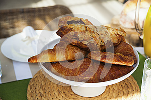 Croissants On Table Royalty Free Stock Images - Image: 24905919