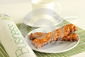 Cup Coffee Pastry Chocolate Chips Royalty Free Stock Image - Image: 24922246