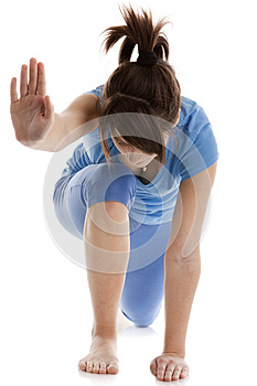 Image Of A Girl Practicing Yoga Stock Image - Image: 24928861