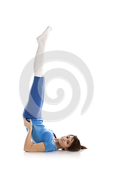 Image Of A Girl Practicing Yoga Stock Photography - Image: 24929082
