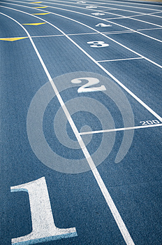 Numbers Of Tracks Royalty Free Stock Photos - Image: 24950928