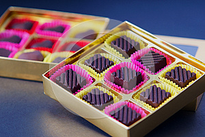 Chocolate In Box Royalty Free Stock Image - Image: 24962956