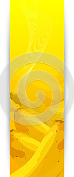 Banners With Banana Royalty Free Stock Images - Image: 24979129