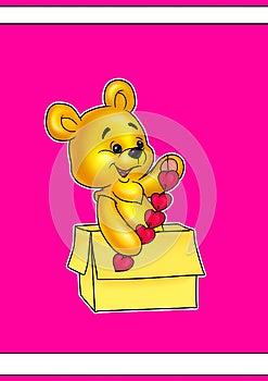 Valentine Bear Stock Photography - Image: 24981592