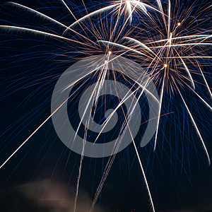 Colorful Fireworks Over Dark Sky Royalty Free Stock Images - Image: 24982899