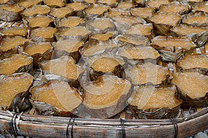 Sweetmeat Steamed In A Basket Stock Images - Image: 24997914