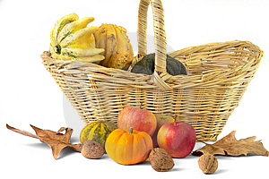 Fall cornucopia Royalty Free Stock Photo