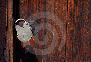 Locked Door - Horizontal Free Stock Image
