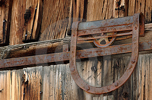 Old Door Pulley Free Stock Photos