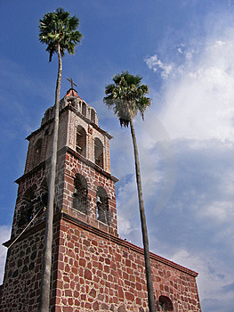 Church And Palms Free Stock Photography