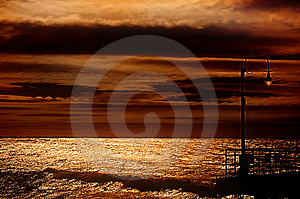 Santa Monica Pier Free Stock Photography