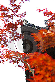 Temple Roof In Autumn Free Stock Photography