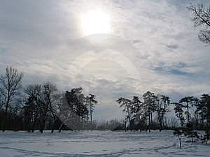 Frozen Sun Stock Images