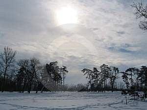 Frozen Sun Stock Images