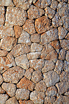 Spanish Stone Wall Stock Image