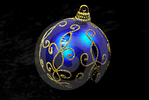 Blue Ornament Stock Photo