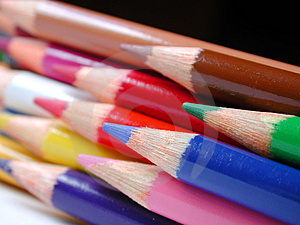 Pencil Crayons Free Stock Photography