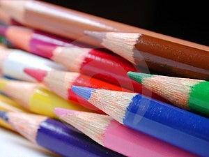 Pencil Crayons Free Stock Photography