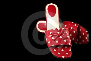 Polka-dot Shoes 2 Stock Photo