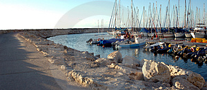 Marina Panorama Stock Photos