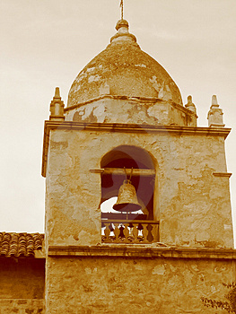 Mission Bell In Sepia Free Stock Photos